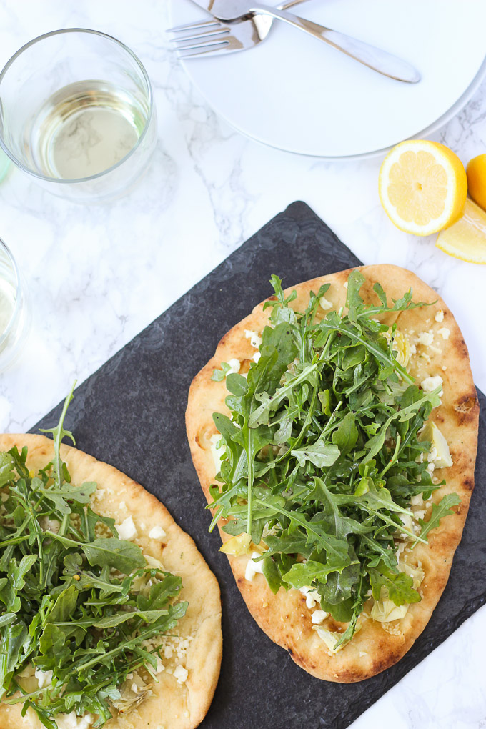 Artichoke and Arugula Flatbread // Fork in the Kitchen