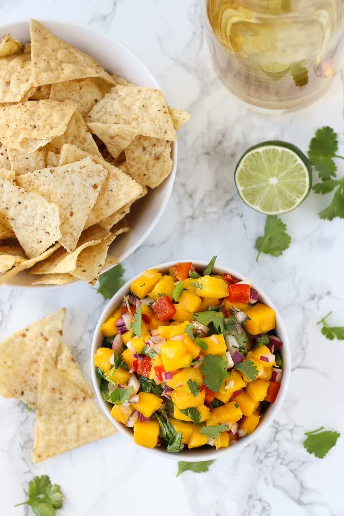 Spicy Mango Salsa // Fork in the Kitchen
