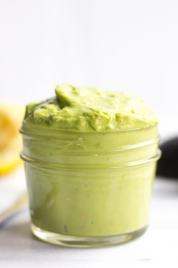 3-Ingredient Avocado Sauce // Fork in the Kitchen