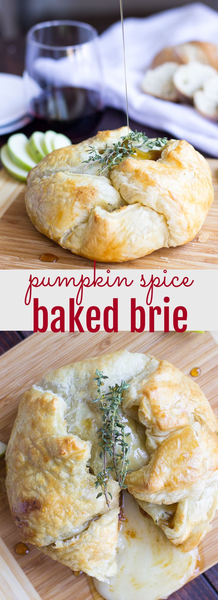 Pumpkin Spice Baked Brie // Fork in the Kitchen