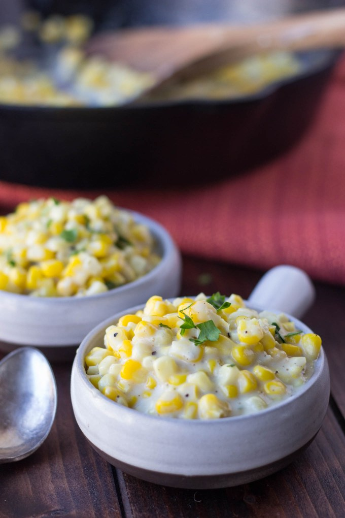 Skillet Creamed Corn // Fork in the Kitchen