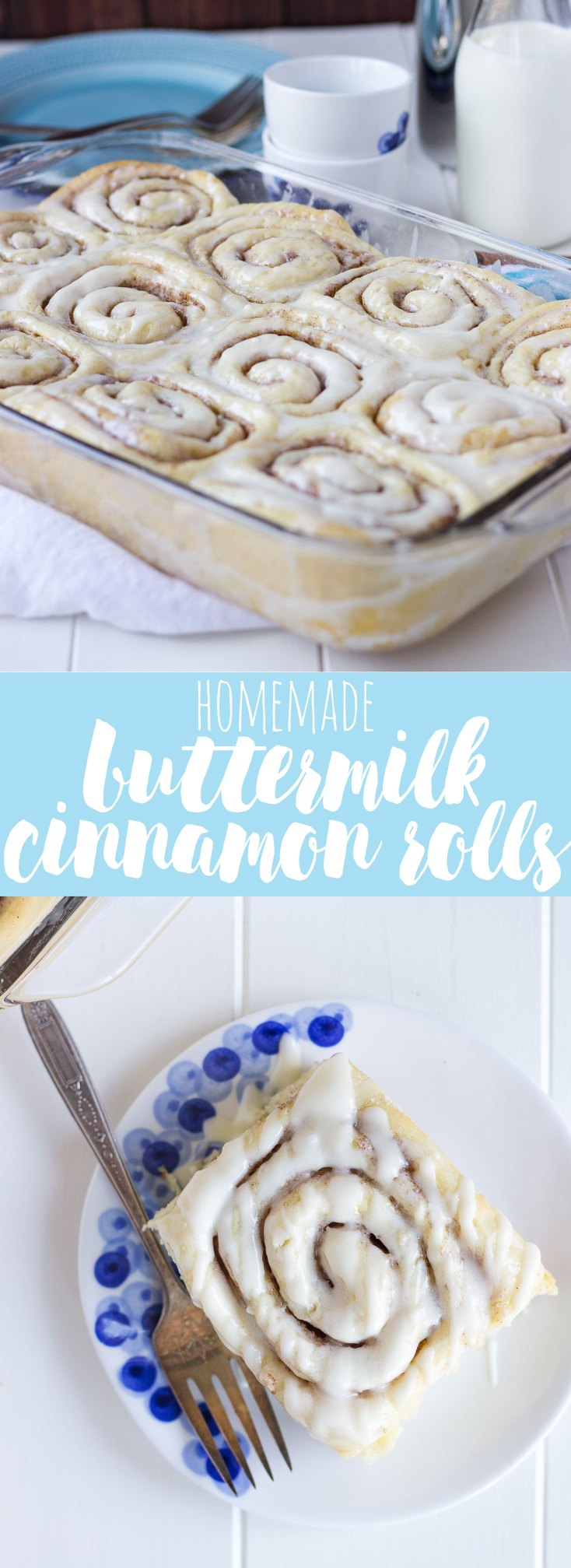 Homemade Buttermilk Cinnamon Rolls // Fork in the Kitchen