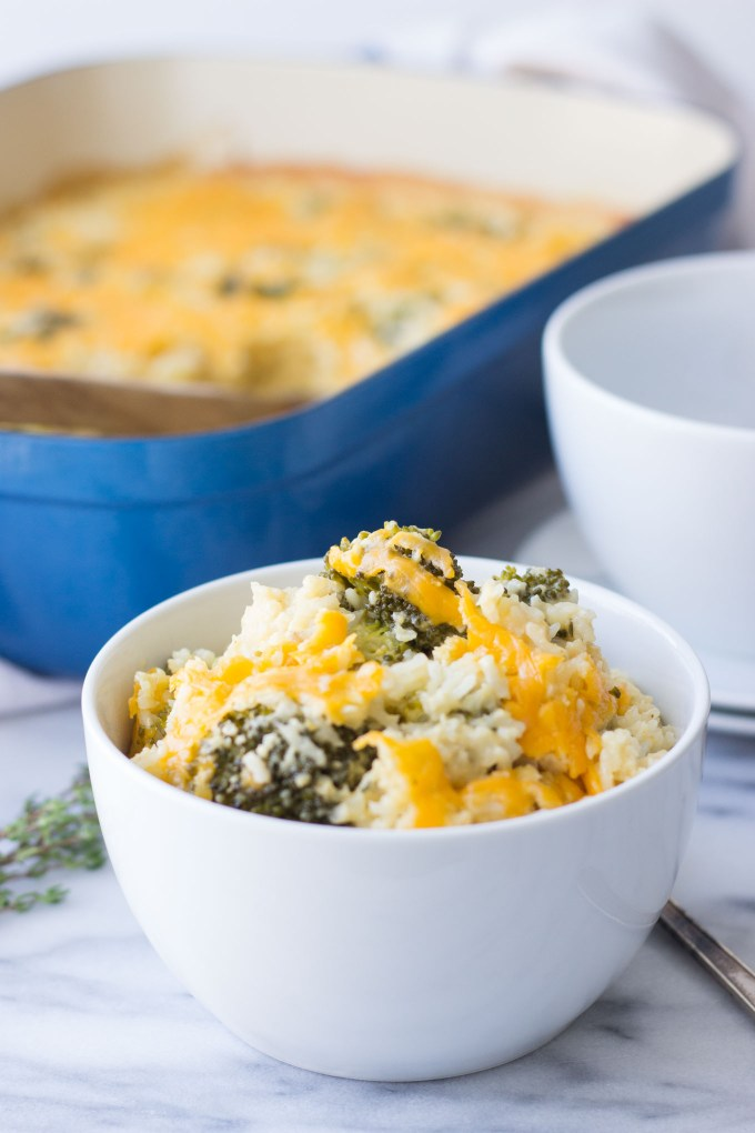 Broccoli, Rice and Cheese Casserole // Fork in the Kitchen
