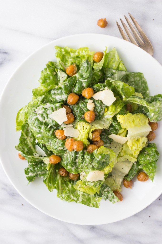 Healthier Caesar Salad // Fork in the Kitchen