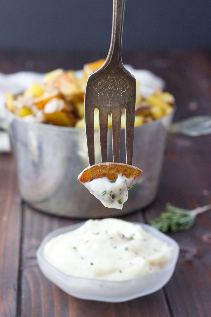 Crispy Potatoes with Roasted Garlic Aioli // Fork in the Kitchen