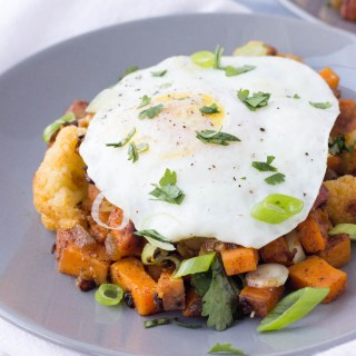Southwest Cauliflower Sweet Potato Hash