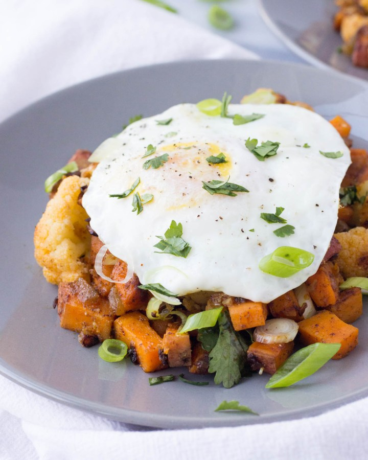 Southwest Cauliflower Sweet Potato Hash // Fork in the Kitchen