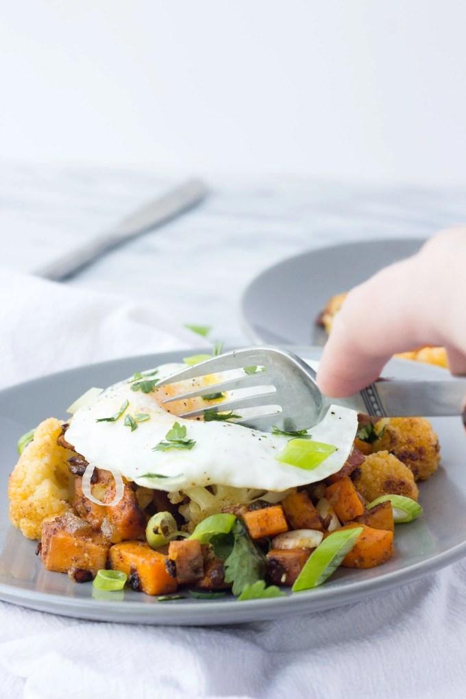 Southwest Cauliflower Sweet Potato Hash // Fork in the Kitchen