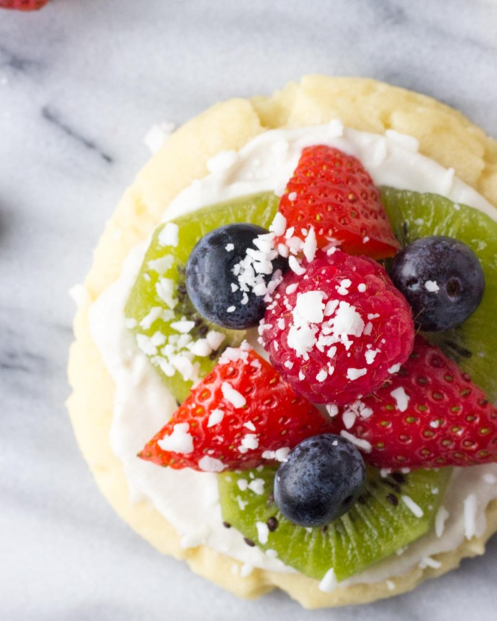 Individual Fruit Pizzas with Coconut Whip // Fork in the Kitchen