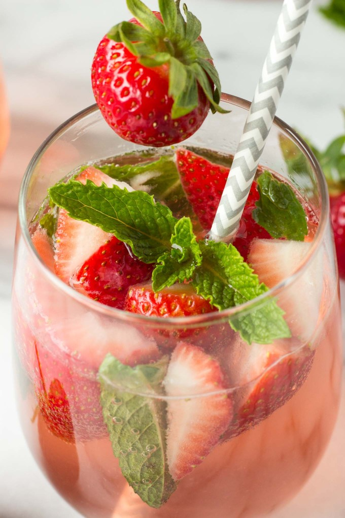 Strawberry Mint Sangria | Fork in the Kitchen