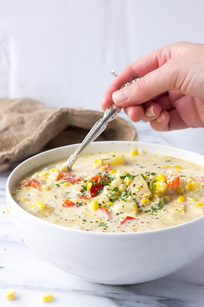 Creamy Corn Chowder | Fork in the Kitchen