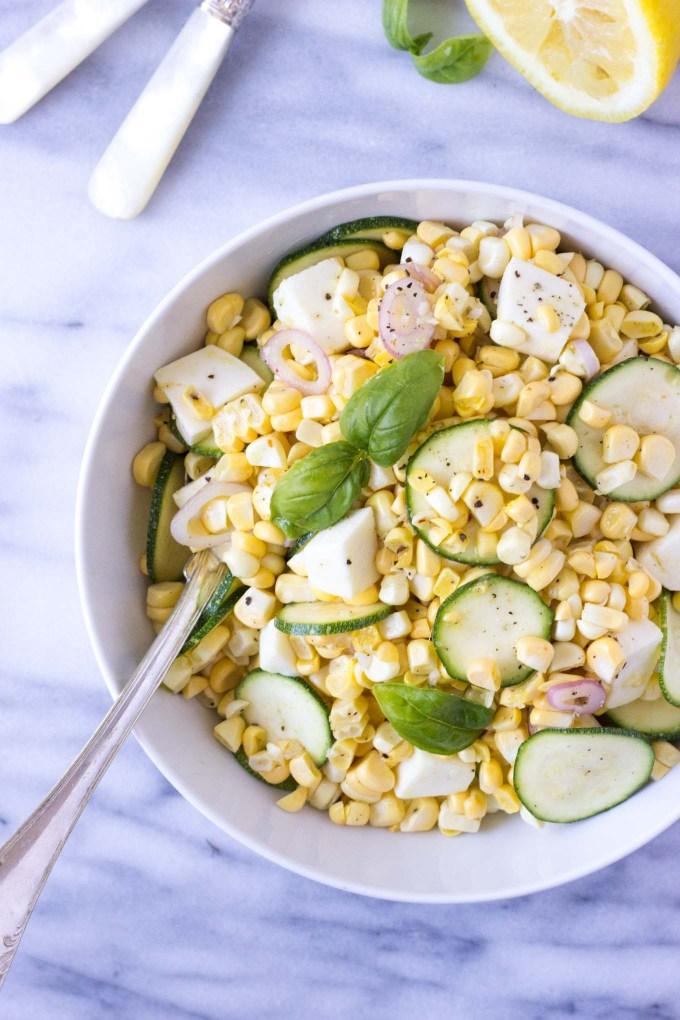 Fresh Corn & Zucchini Salad | Fork in the Kitchen