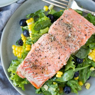 Salmon Blueberry Power Salad