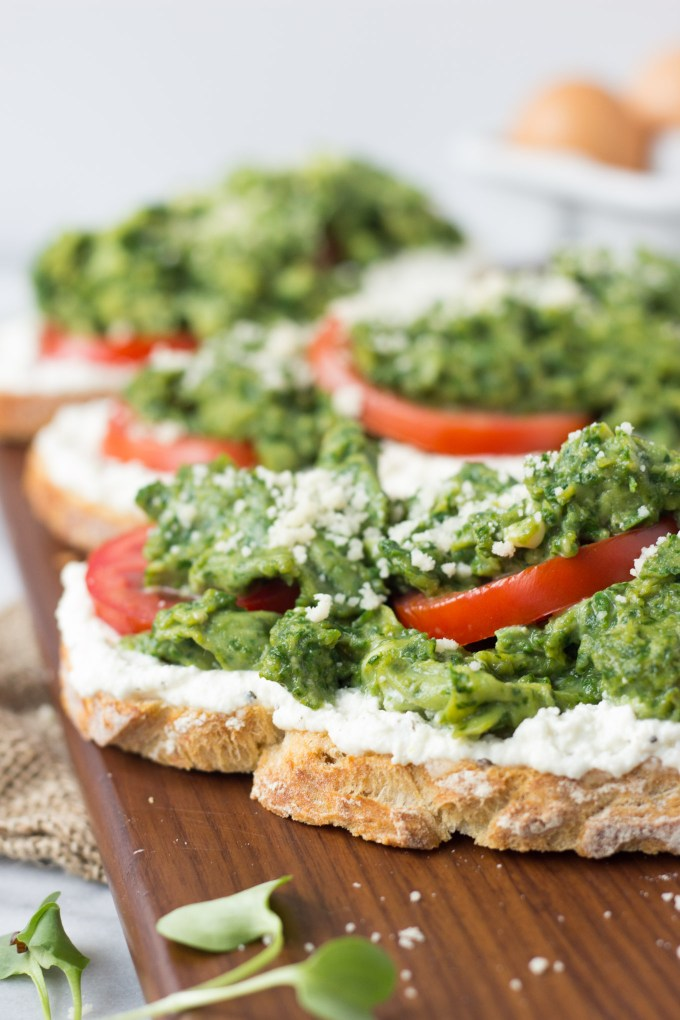 Spinach Eggs and Ricotta Toast | Fork in the Kitchen