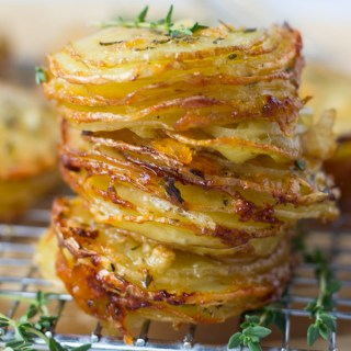 Gruyere and Thyme Stacked Potatoes
