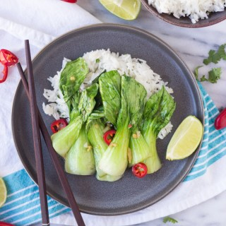 Sautéed Baby Bok Choy for Two