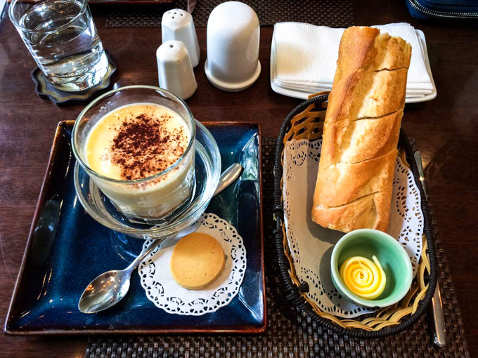 Vietnamese Egg Coffee in Vietnam with a baguette   Fork in the Kitchen