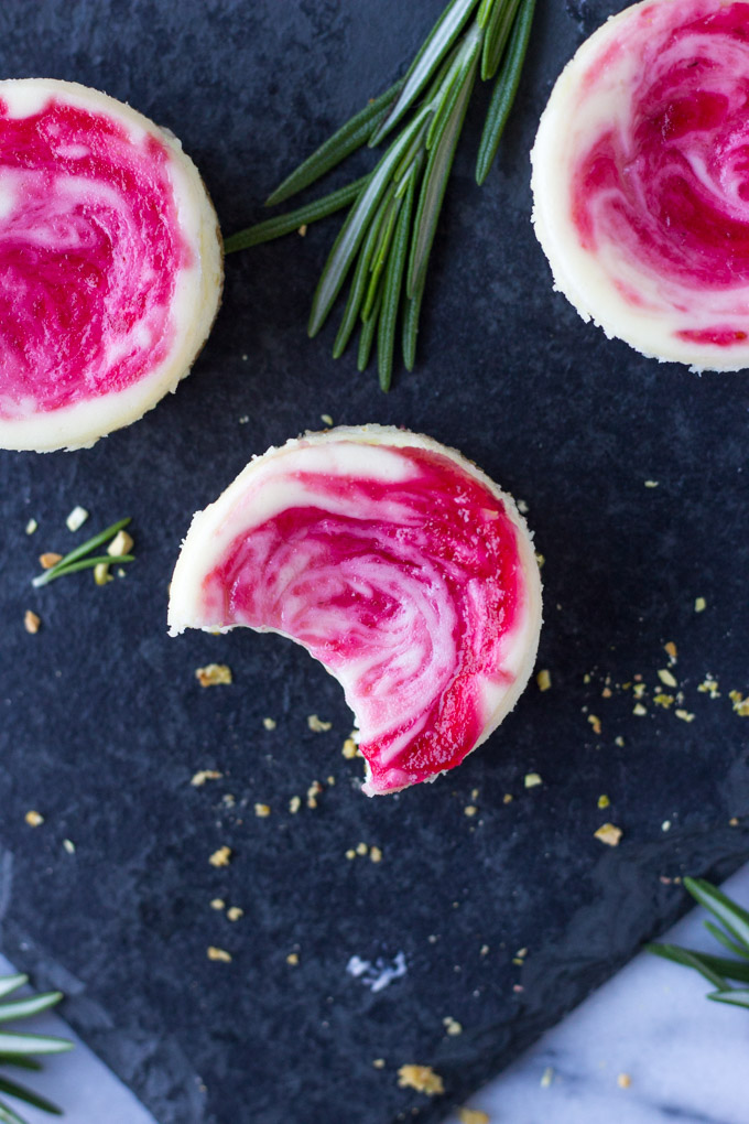 Mini Cranberry Pistachio Cheesecakes | Fork in the Kitchen