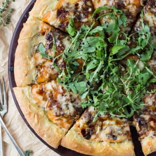 Caramelized Onion and Sweet Potato Pizza