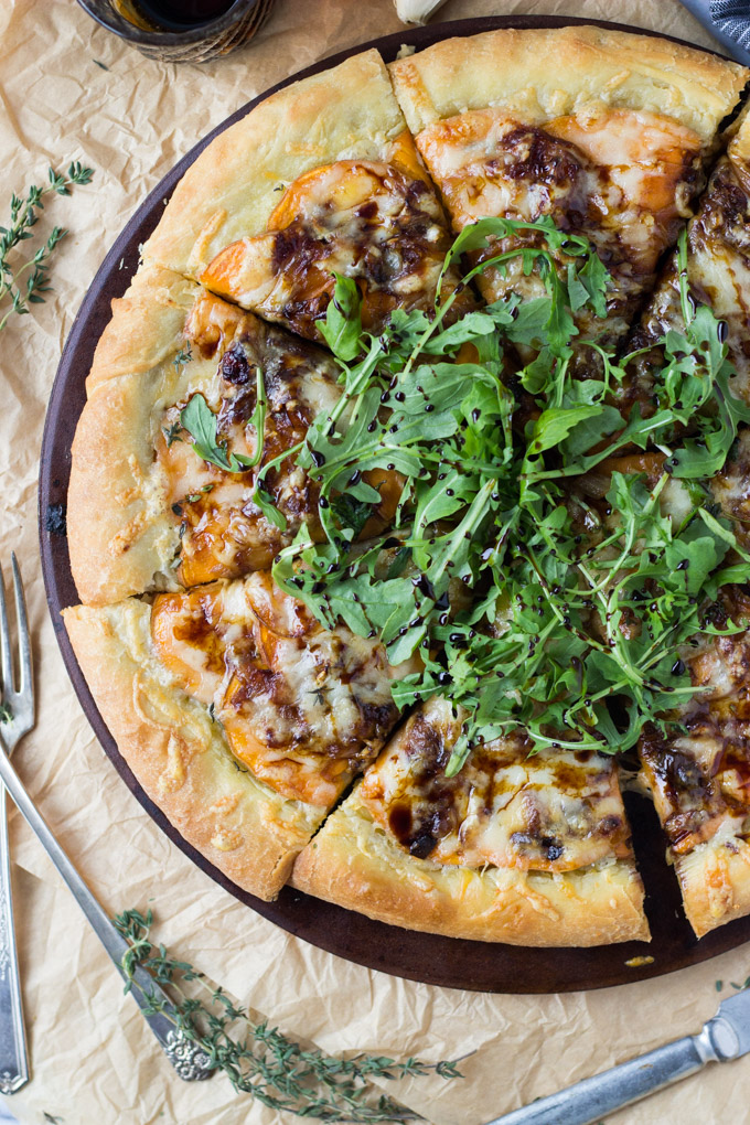 Caramelized Onion and Sweet Potato Pizza | Fork in the Kitchen