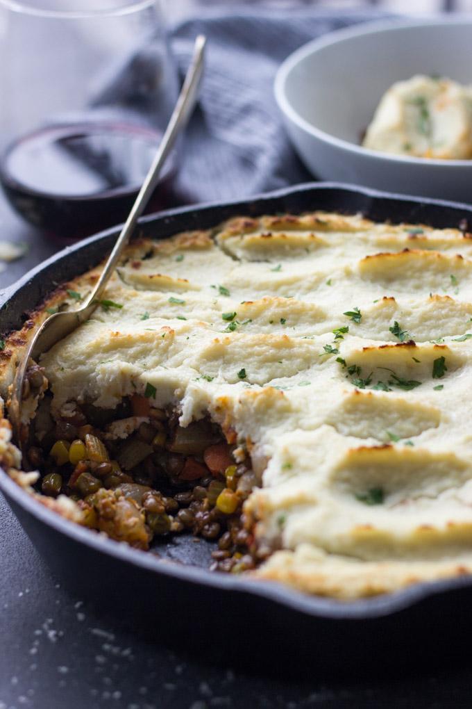 Healthy Vegetarian Shepherd's Pie | Fork in the Kitchen