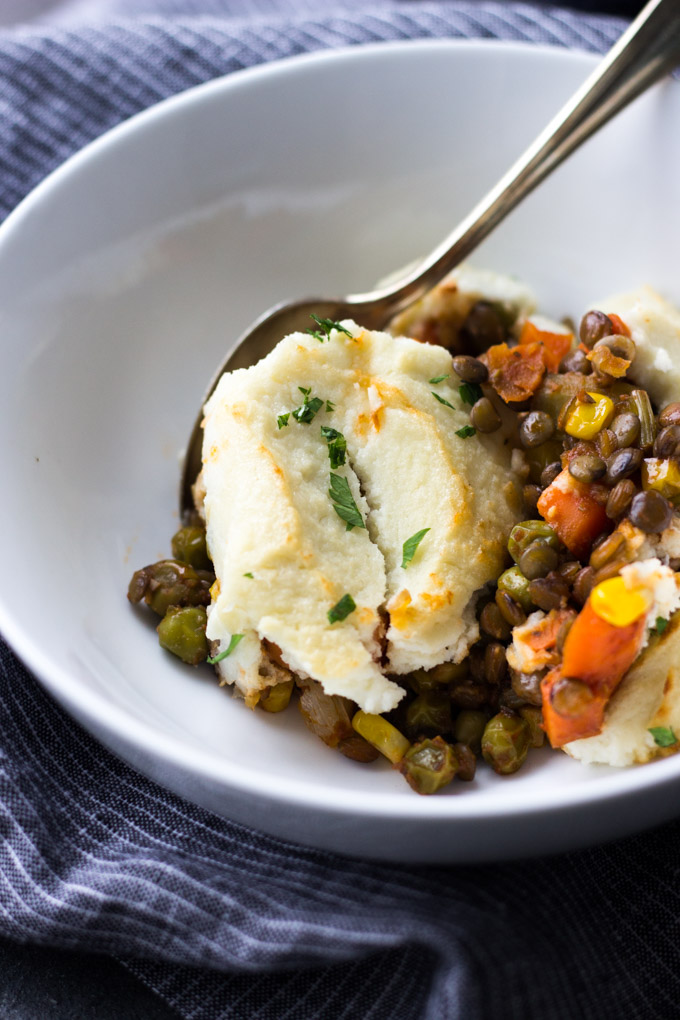 Healthy Vegetarian Shepherd's Pie | Fork in the Kitchen