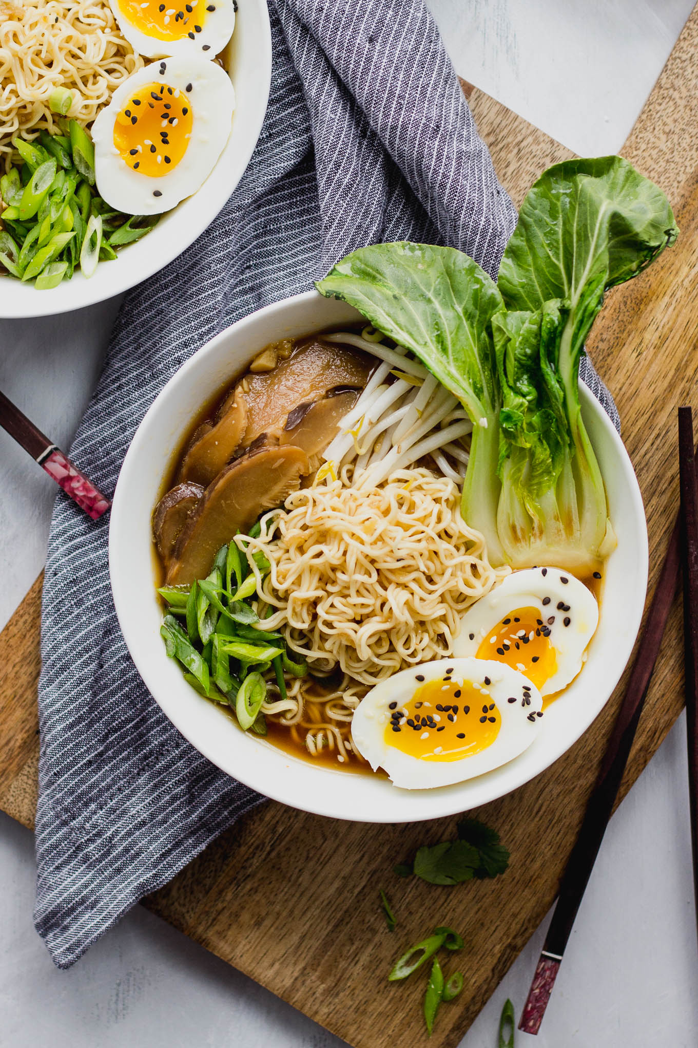Savory Vegetarian Ramen - quick and easy, a perfect weeknight dinner! | Fork in the Kitchen
