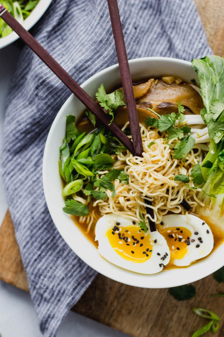 Savory Vegetarian Ramen - quick and easy, a perfect weeknight dinner!   Fork in the Kitchen