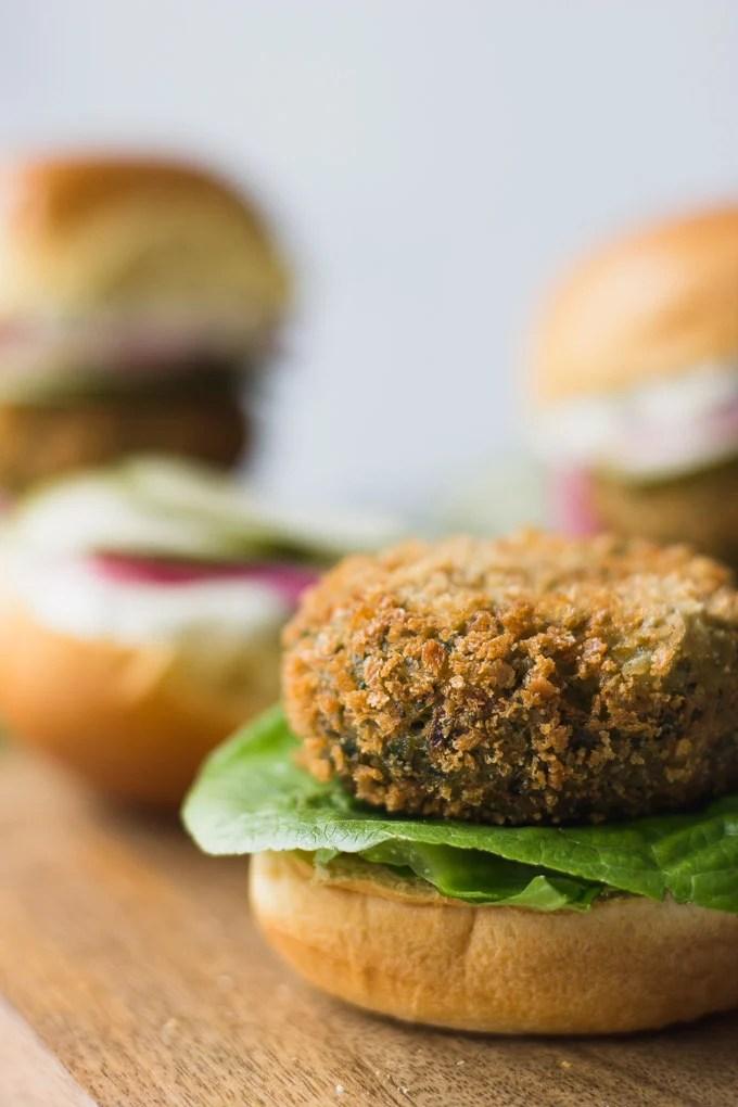Crispy Falafel Sliders - a flavorful vegetarian meal!   Fork in the Kitchen