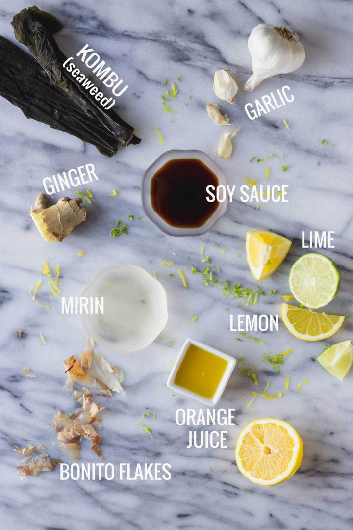 Homemade Ponzu Sauce - citrusy, tangy, sweet, and salty, the perfect dressing or dipping sauce!   Fork in the Kitchen