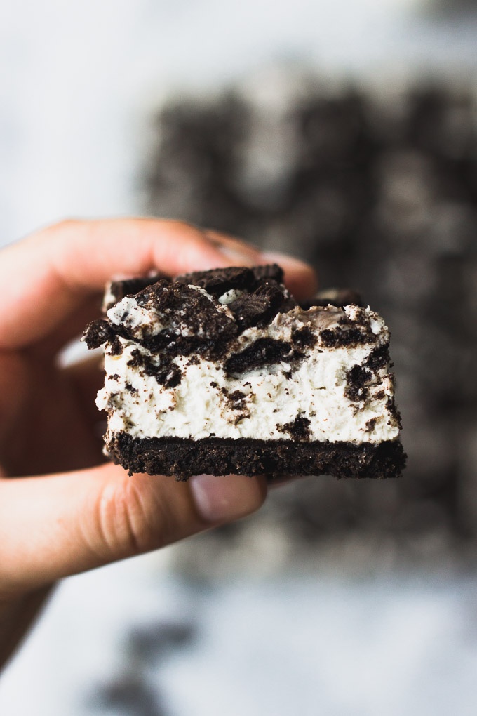 No Bake Oreo Bars | Fork in the Kitchen