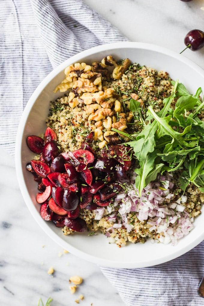 Quick Cherry Quinoa Salad   Fork in the Kitchen