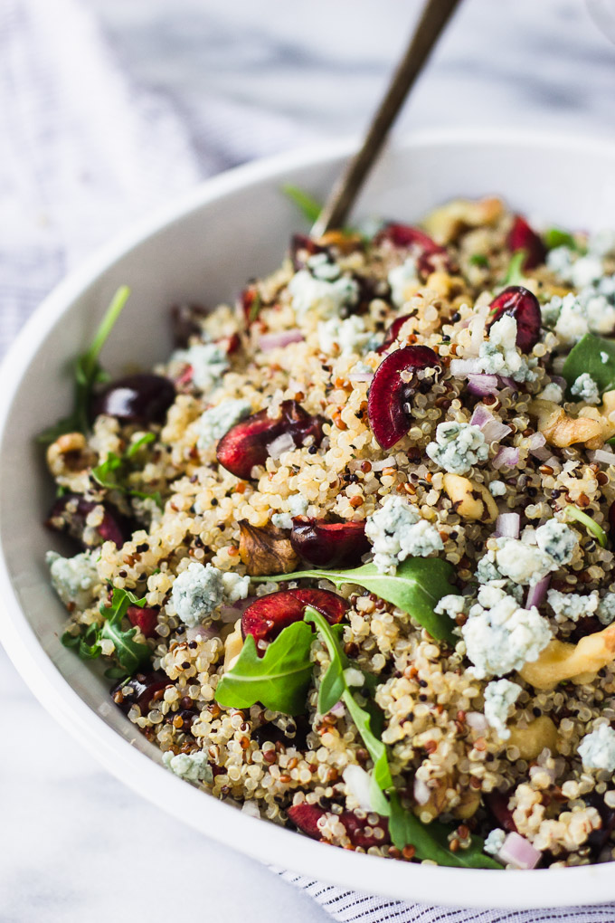 Quick Cherry Quinoa Salad | Fork in the Kitchen