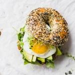Romesco Breakfast Bagel Sandwich - easy to make and full of flavor! #recipe #forkinthekitchen #brunch #vegetarian | Fork in the Kitchen