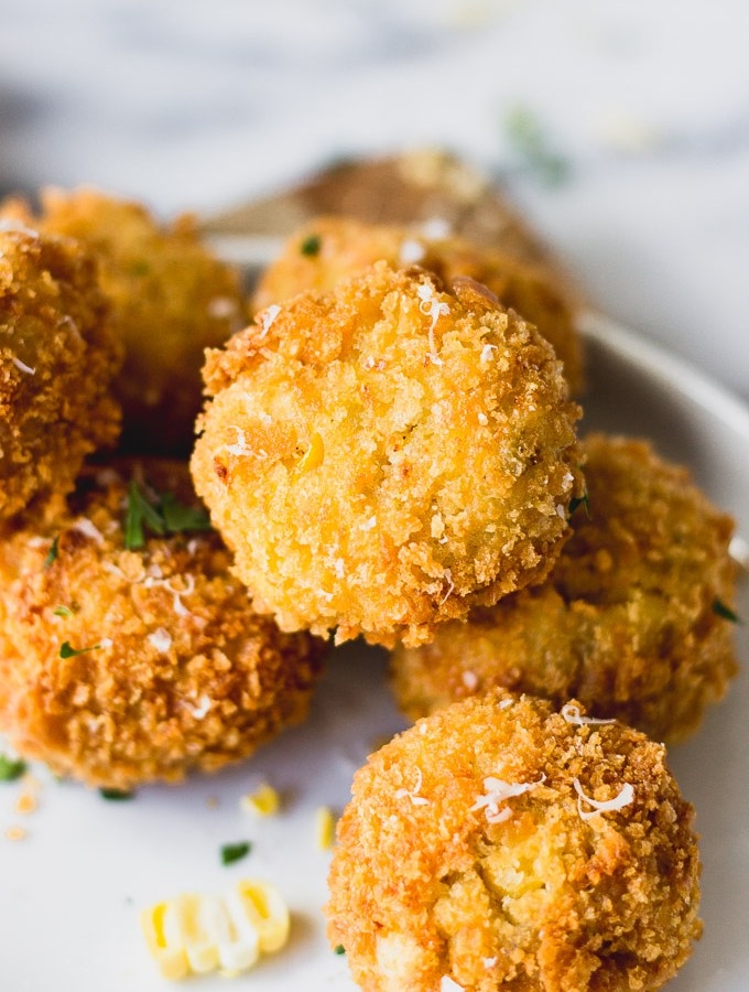 Scalloped Corn Arancini