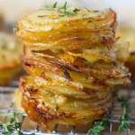 Gruyere and Thyme Stacked Potatoes | Fork in the Kitchen