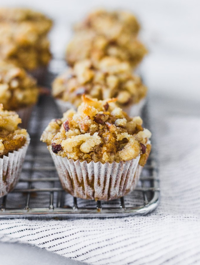 Mini Pumpkin Coconut Muffins