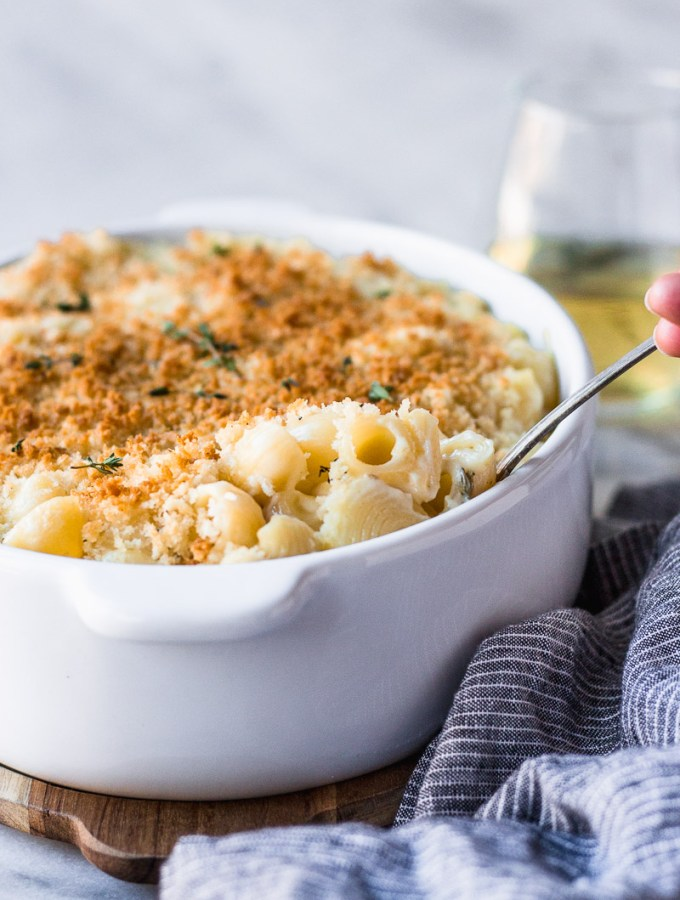 White Wine Macaroni and Cheese