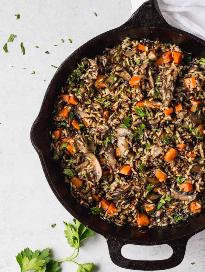 Herbed Wild Rice with Mushrooms
