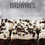 cannoli brownies on cooling rack by fork in the kitchen