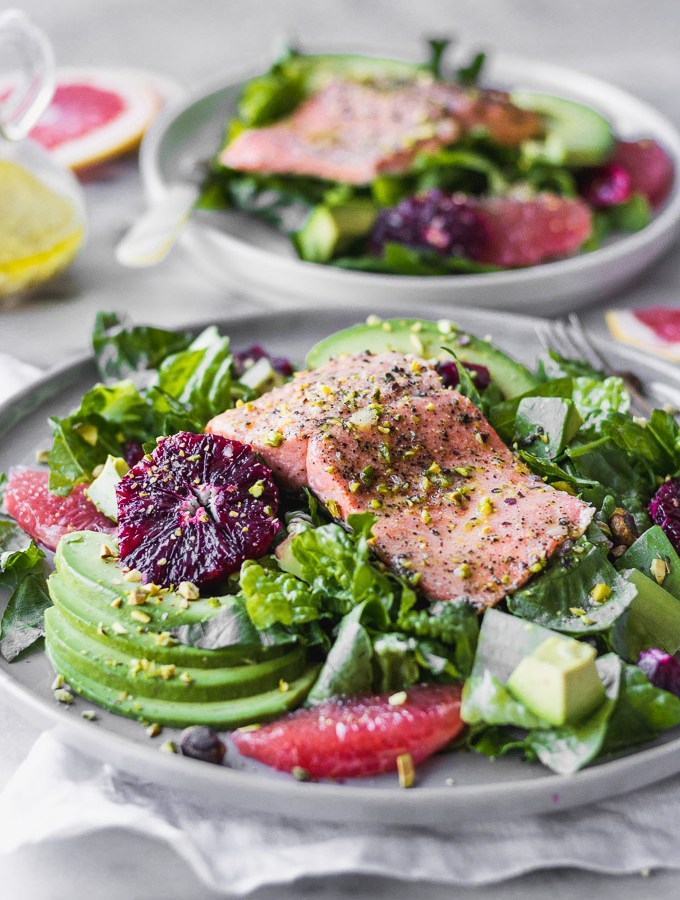 Simple Salmon Citrus Salad