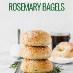 rosemary bagels stacked