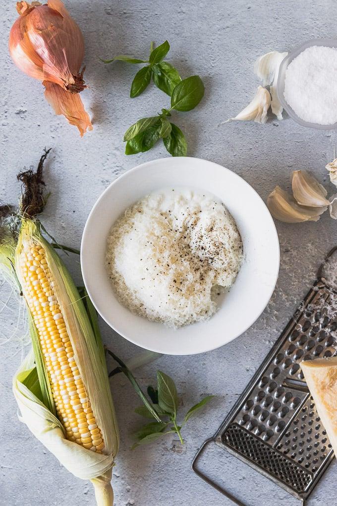 sweet corn ravioli ingredients