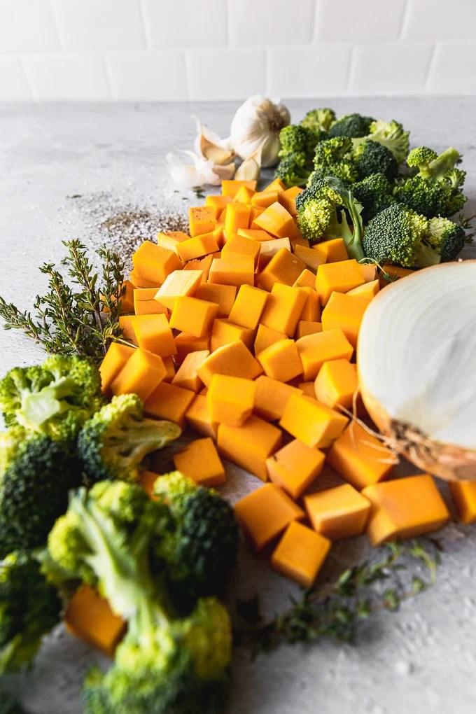 broccoli squash soup ingredients