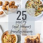 pantry (and freezer) friendly recipes