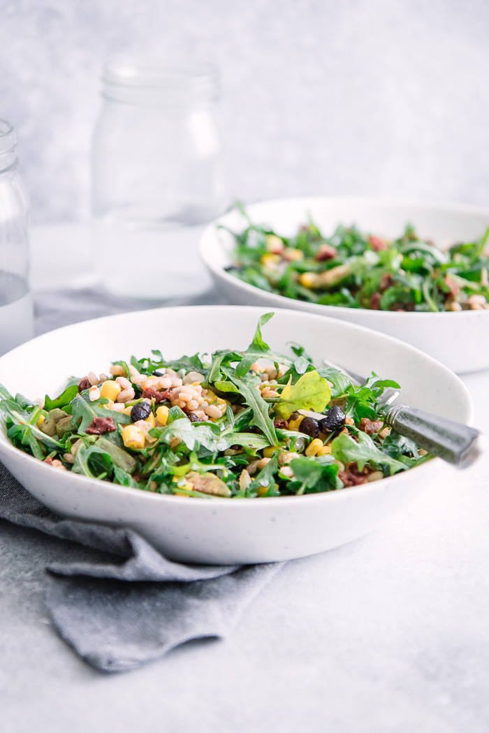 Black Bean Corn Farro Salad
