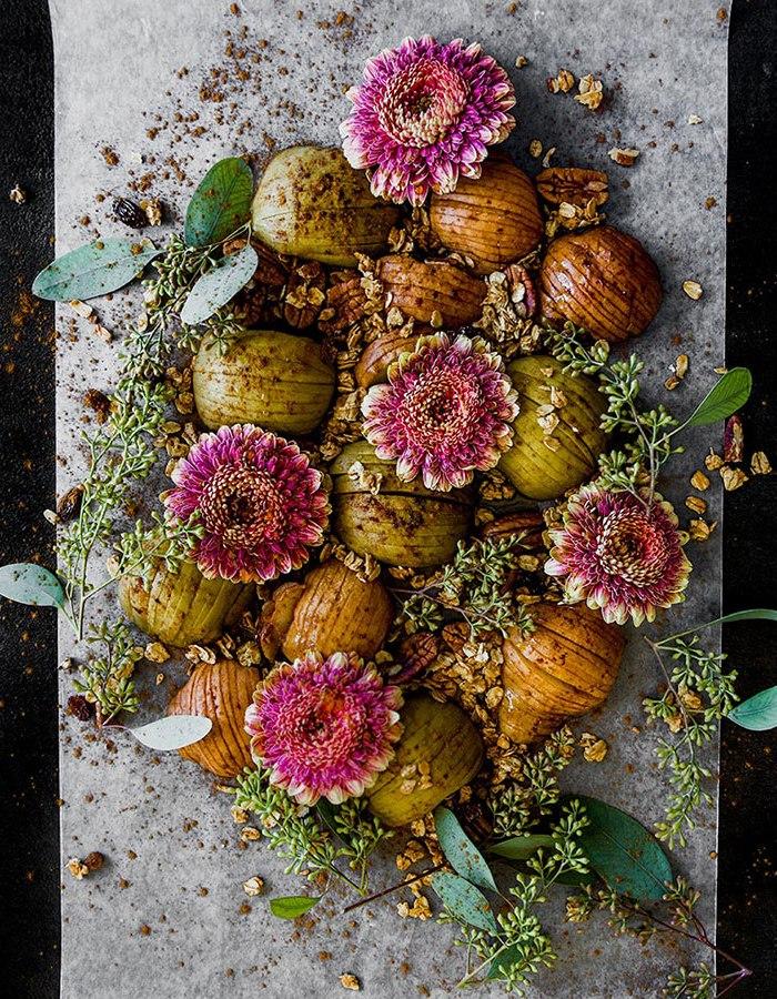 Hasselback Fall Fruit Platter