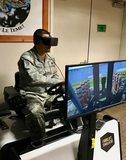 Forklift-Simulator at US Air Force