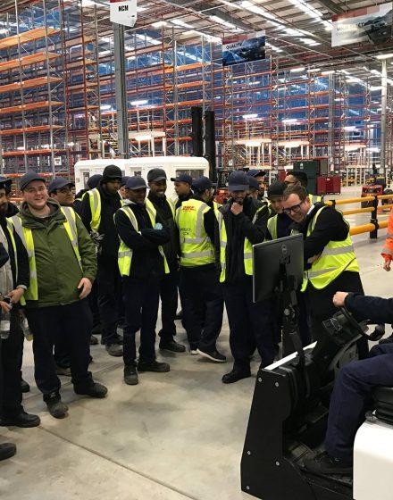 Demo at Jaguar - Land Rover plant for DHL