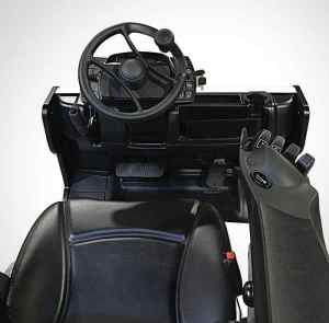 Top view Sit Down Counterbalance Forklift controls